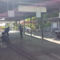 ミニ鉄道の駅3番線まであります