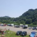 田代運動公園前の中津川河川敷 バーベキュー&駐車場
