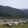 田代運動公園前の中津川河川敷 駐車場