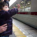 博物館上の東向島駅で電車にばいば~い