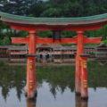 広島?そう厳島神社の鳥居です