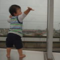 屋上からは本物の新幹線が見れるよ