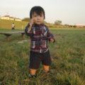 芝生広場では小さなお子さんも遊べる
