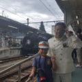 鬼怒川温泉駅 駅長さんと記念写真