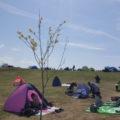広い芝生広場でのんびり