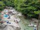 川遊び 尾白川渓谷