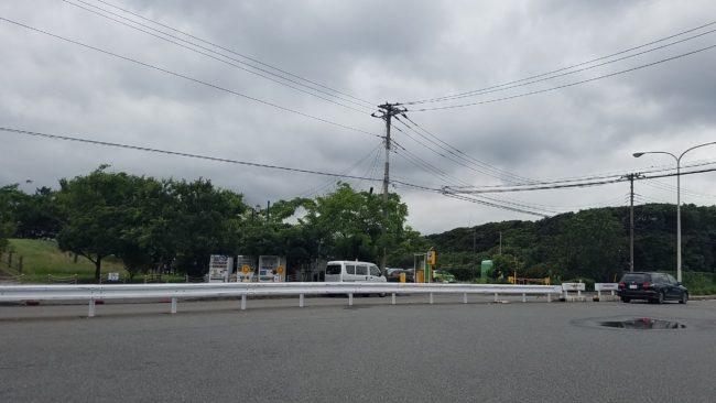 東扇島西公園入口