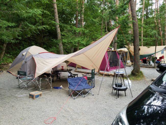 山梨県北杜市でキャンプしたよ