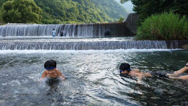山梨県 大武川 川遊び
