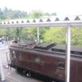 電気機関車の展示も