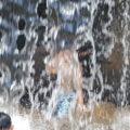 笛吹川フルーツ公園 水遊び