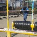タイヤ公園 タイヤローラー