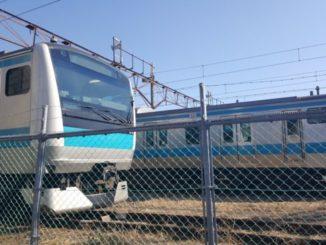 京浜東北線がこんなに近くで