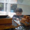 運輸車両から工事車両の模型の展示も