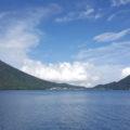 クルーズ船からみた中禅寺湖